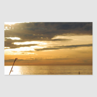 golden pacific sunset sticker