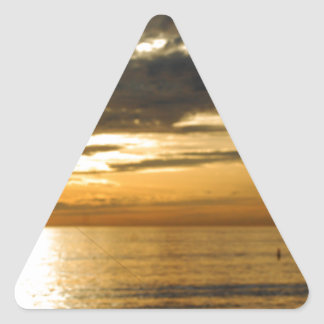 golden pacific sunset triangle sticker