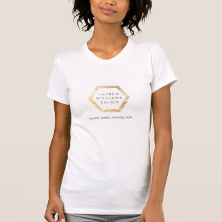 Golden Palms Spray Tanning Salon Logo on White T-Shirt