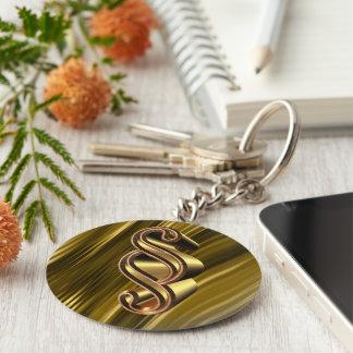 Golden paragraph symbol keychain