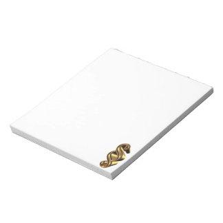 Golden paragraph symbol notepad
