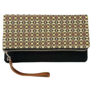 Golden Pattern Clutch Bag