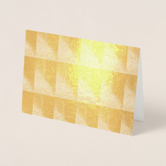 Golden Pattern Foil Card