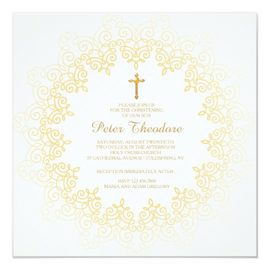 Golden Pattern Invitation