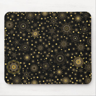 Golden Pattern Mouse Pad
