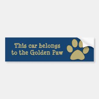 golden paw bumper sticker