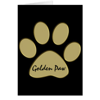golden paw greeting card