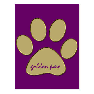 golden paw post card