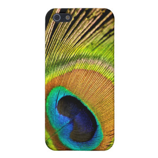 Golden Peacock feather iPhone 4 4S case