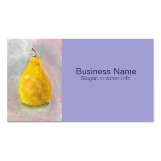 Golden Pear Still Life Watercolor Business Card