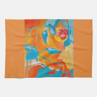 Golden Persimmon I Kitchen Towel