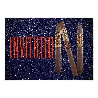 Golden Personalised Cigaro Invitation Glitter Navy