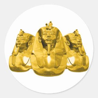 Golden Pharaohs Classic Round Sticker