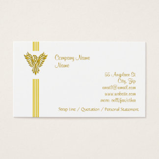 Golden Phoenix Rising - clean, everyday design Business Card