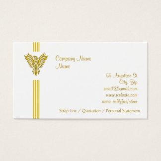Golden Phoenix Rising - clean, everyday design Business Card