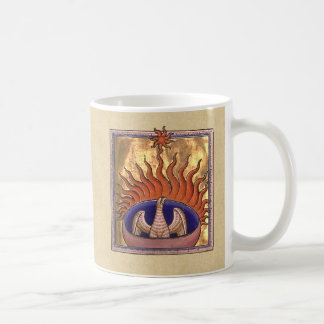 Golden Phoenix Rising From the Ashes Coffee Mug