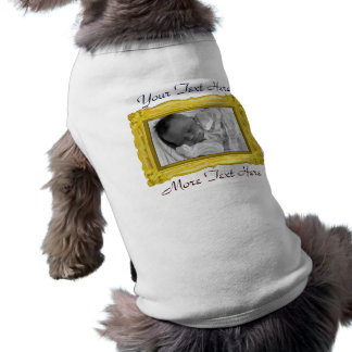 Golden Photo Frame Pet Clothing