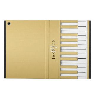 Golden Piano Keys Monogram iPad Case