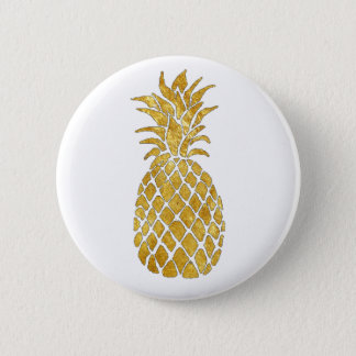 golden pineapple 2 inch round button