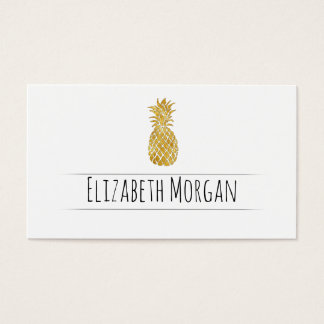 golden pineapple business card