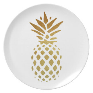 Golden Pineapple, Fruit in Gold Plate