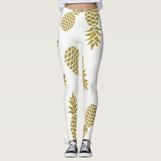 Golden Pineapple Leggins Leggings