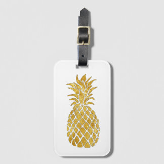 golden pineapple luggage tag