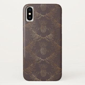 Golden Pineapple Pattern Iphone x  Case
