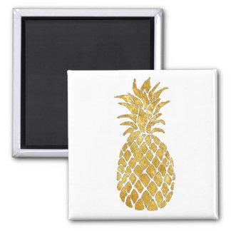 golden pineapple square magnet