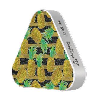 Golden Pineapples On Stripes Speaker