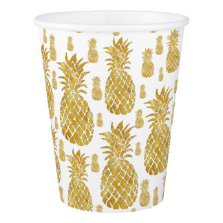 golden pineapples paper cup