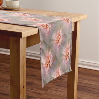 Golden pink short table runner