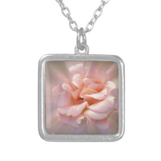 Golden pink silver plated necklace