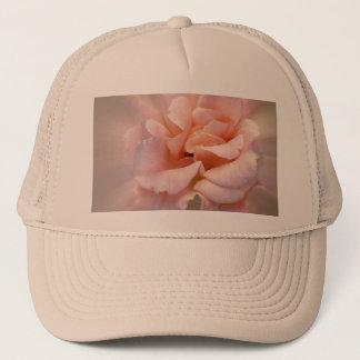 Golden pink trucker hat