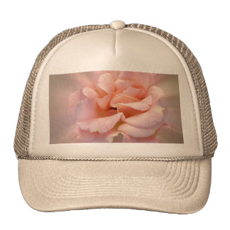 Golden pink trucker hat