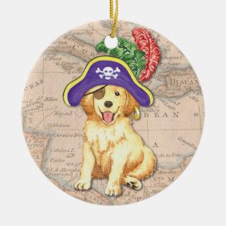 Golden Pirate Ceramic Ornament