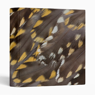 Golden Plover Feathers 3 Ring Binders