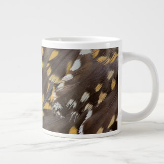 Golden Plover Feathers Large Coffee Mug