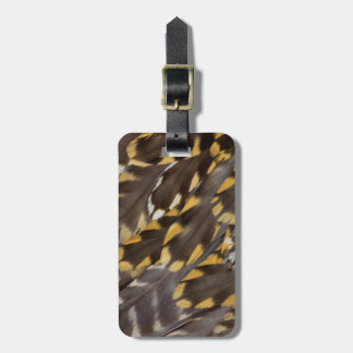 Golden Plover Feathers Luggage Tag