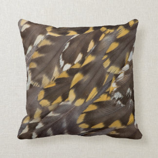 Golden Plover Feathers Throw Pillow