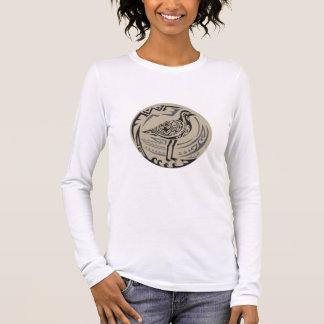 Golden Plover Standing Circle Tribal Art Long Sleeve T-Shirt