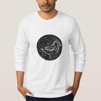Golden Plover Standing Circle Tribal Art T-Shirt