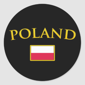 Golden Poland Classic Round Sticker