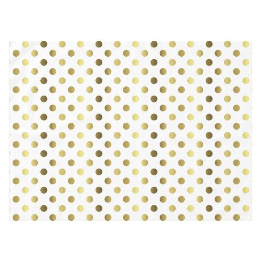 Golden Polka Dot Table Cloth Tablecloth