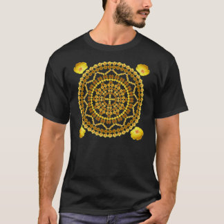 Golden Poppies Mandala T Shirt