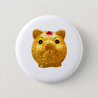 Golden Pork 2 Inch Round Button
