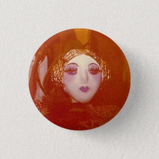Golden portrait 1 inch round button