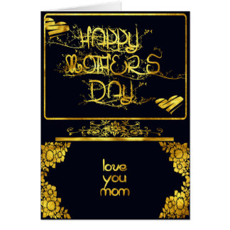 GOLDEN POST CARD  MOTHER'S DAY