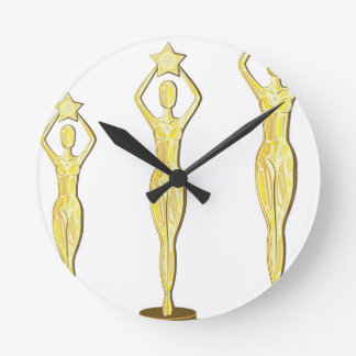 Golden Prize Round Clock