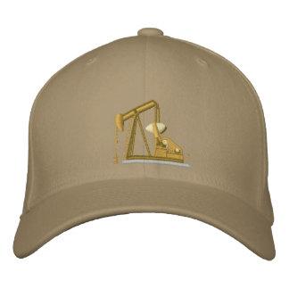 Golden Pumpjack Embroidered Hat